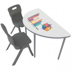Buddy _ Round Whiteboard Table